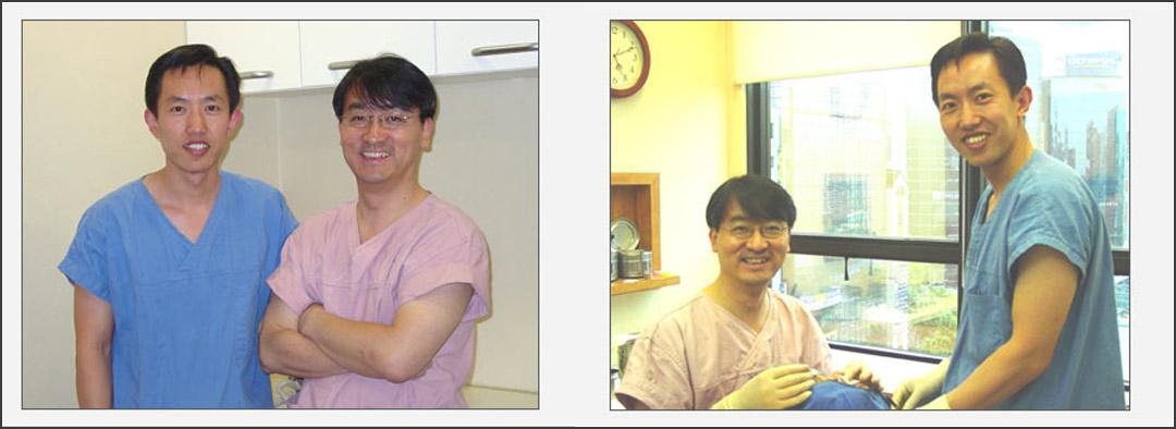 2004年何医生赴韩国一流整形美容医生李在和门诊学习